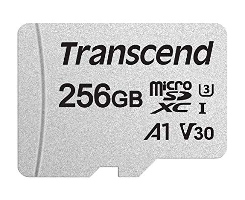 Transcend 256GB MicroSDXC Adapter TS256GUSD300S - Transcend 256GB MicroSDXC card UHS-1/C10/U3/V30/A1 With Adapter - TS256GUSD300S-A