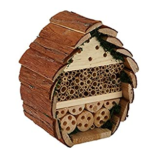 Wildlife Republic Log Cabin Bee Bug and Insect Home, Natural, 24 cm H, 21 cm W, 13 cm D Wildlife Republic Log Cabin Bee Bug and Insect Home, Natural, 24 cm H, 21 cm W, 13 cm D 51JxzKLGacL