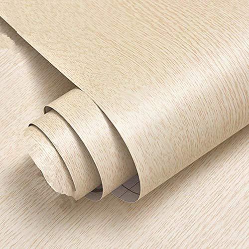 Motishi Beige Eiche Kontakt Papier Holzmaserung, Selbstklebend, Regalen Kommode Schublade Schrank Aufkleber 61x 200,7cm - Schublade Kommode Papier Liner Für