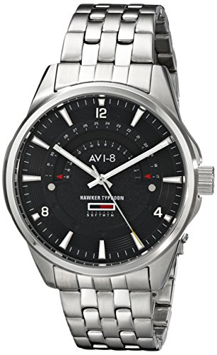 AVI-8 Men's AV-4027-12 Hawker Typhoon Analog Display Japanese Quartz Silver Watch