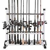 One Bass Support de Canne à pêche en Alliage d'aluminium Portable pour Canne à pêche à Tous Les Types de bâtons de pêche, Peut contenir jusqu'à 24 Cannes