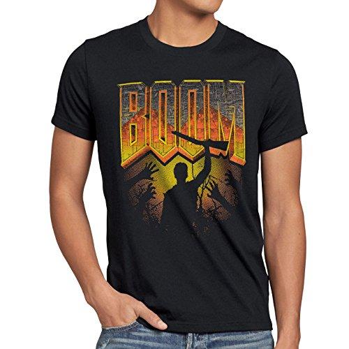 style3 Boom T-shirt da uomo sparatutto pc doom quake fps multiplayer, Dimensione:XL