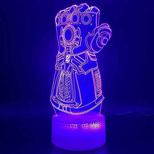 3d nacht lampe marvel thanos handschuh design dekoration handwerk jungen schlafzimmer nachtlicht kinder geburtstagsgeschenk led nachtlicht a-1775
