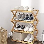 Multi-Tier Adjustable Foldable Wooden Bamboo Plant Flower shoe Stand Plant Shelf Standing Flower Pots Shelf Flower Pots Rack