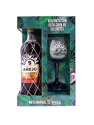 Brugal Añejo Pack con Botella de Ron y Copa de Balón - 1 L