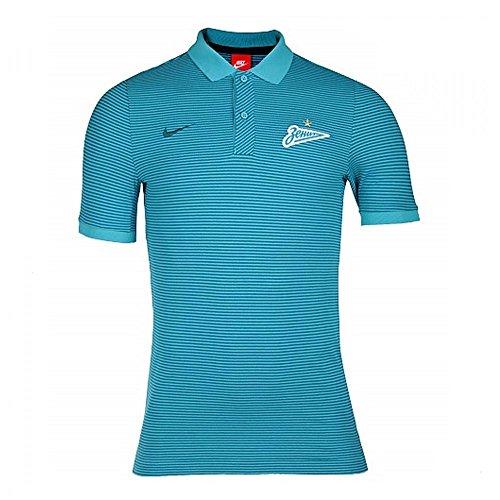 Nike M NSW GSP PQ AUT Polo Manga Corta FC Zenit de San Petersburgo, Hombre, Azul Omega Blue/Midnight...