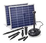 Solar Teichpumpe 100 Watt Solarmodul 3400 l/h Förderleistung 3 m Förderhöhe esotec pro Komplettset Gartenteich, 101918