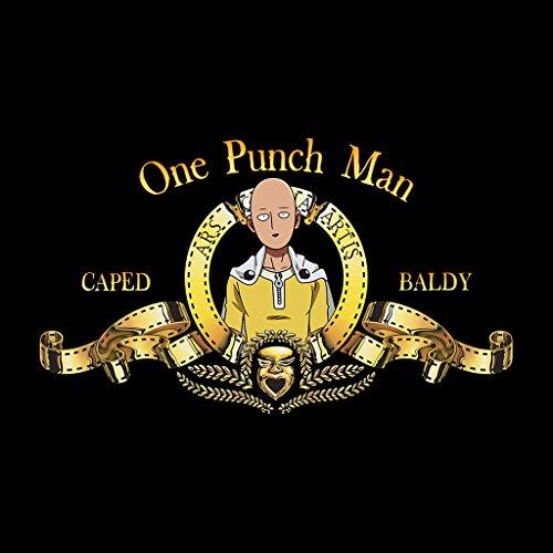 Cloud City 7 One Punch Man Saitama MGM Lion Logo Women's Vest Black