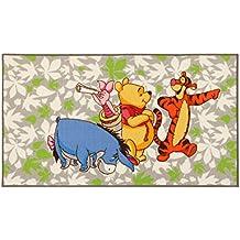 Disney Alfombra Disney A.L. Winnie & Friends Verde/Gris/Multicolor 80 x 140 cm