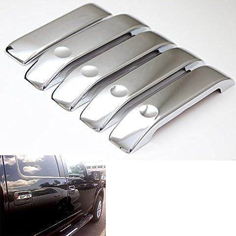 PolarLander Copertura della maniglia a leva Portellone Porta per finitura placcato impermeabile Chrome Ford F150