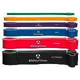 Fitnessbänder/Resistance Band»PullMeUp« / Für Krafttraining, Crossfit, Yoga/Widerstandsbänder/Gymnastikbänder (Expander, Powerbands & Bodytrainer) / Unterschiedliche Zugstärken rot