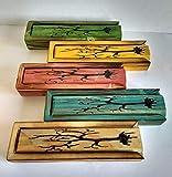 Plumier de madera, estuche para lápices, caja para incienso de madera reciclada de palet, hecho a mano