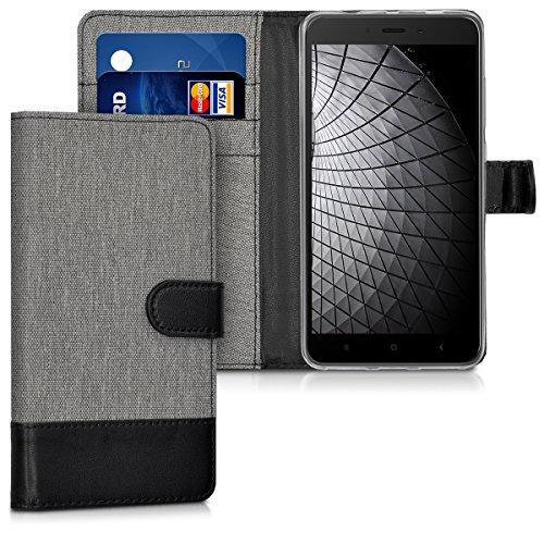 kwmobile Xiaomi Redmi Note 4 / Note 4X Hülle - Kunstleder Wallet Case für Xiaomi Redmi Note 4 / Note 4X mit Kartenfächern & Stand