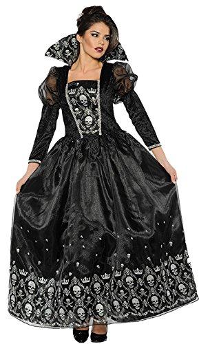 Underwraps Dark Queen Womens Evil Victorian Gothic Halloween Costume-M Medium (Lady Piraten Zombie Kostüm)