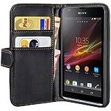 PEDEA Bookstyle Hülle für Sony Xperia Z1 Compact Tasche, schwarz