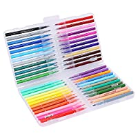 Watercolor Brush Pen Set Washable Drawing Painting Sketch Colorful Brush Pens Marker Soft Flexible Fine Brush Tips Watercolor Effect for Coloring Book Manga Comic Calligraphy for Kids Adult Artist