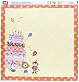 MP PD104-09 - Papel para scrapbooking con purpurina, doble cara, 31 x 31 cm