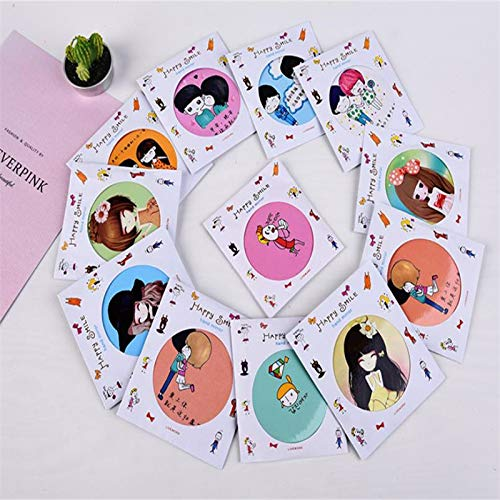 Party Favors - 5pcs Cosmetic Mirror Portable Cute Tinplate Household Goods Travel Essential Many Styles Available - Organza Crayons Toys Naughty Mazes Instruments Adults Mouse Clips Kits Animal (Wedding Bubbles In Bulk)