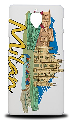 Price comparison product image Foxercases Design Milan Italy Hard Back Case Cover For OnePlus 3 / 3T