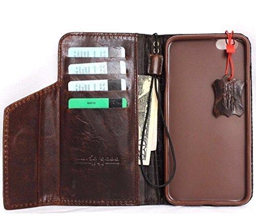 Véritable vintage en cuir faite à la main pour apple iphone - 6S plus Special Housse Portefeuille Retro Id
