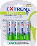 EXTREME 2900 mAh AA (LR06) Ni-MH RECHARGEABLE BATTERIES (4 PACK)