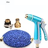 Teleskopisch Multifunktions-Autowaschanlage Wasserpistole Home-Anzug Hochdruck-Autowasch-Düse Explosionsgeschützte Verschleiß-resistente Wasserrohr-Anzug Teleskop-Rohr-Set (Optionale Größe) Vier Jah