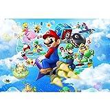 Jigsaw Puzzle Nintendo Game Poster, Puzzle di Legno, Super Mario Galaxy Wii, 300/500/1000 Pezzi Fotografia Giocattolo Gioco per Adulti e Bambini P715 (Color : B, Size : 300pc)