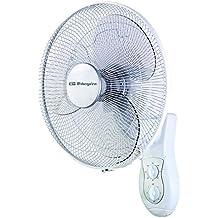 Orbegozo WF 0139 - Ventilador de pared, potencia de 45 W, 3 velocidades, diámetro hélice 40 cm, color blanco