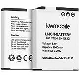 Batería de kwmobile para cámara digital Nikon EN-EL12 litio-iones batería Nikon CoolPix A900 S9900 S9700 S9600 S9500 S9400 S9100 S8200