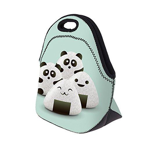 Smallbox pranzo per donne 3D stampato Partten neoprene con cerniera portatile picnic 2017New Fashion panda