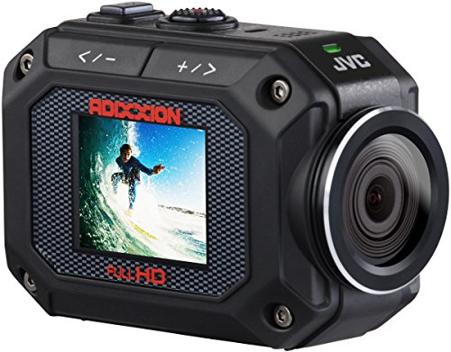 JVC GC-XA2BEU Action Camera Full HD, Impermeabile 5m, Antipolvere, Antiurto 2m, Anticongelamento, Nero
