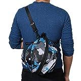 Lixada Deportes Bola Redonda Bolsa de Baloncesto Bolsa de Fútbol Balón de Fútbol Voleibol Bolsa de Transporte (Azul Camoufalage)