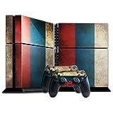 Stillshine PS4 Skin Aufkleber Sticker Folie sch�tzende Haut Schale f�r Sony Playstation 4 Konsole und 2 Controller (Flags Russia Bright) Bild