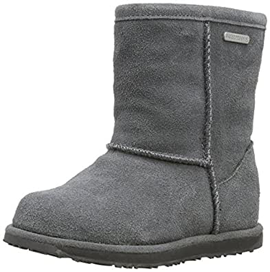 Emu Unisex-Child Brumby Lo Boots K10773 Charcoal 7 UK, 24 EU, 8 US, Regular
