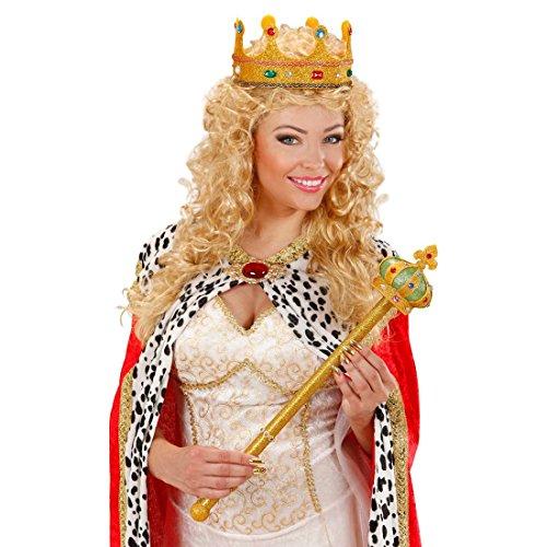 (Goldenes König Zepter Königszepter Regenten Stab Königsstab Königinnen Schmuck Märchen Kostüm Accessoire)