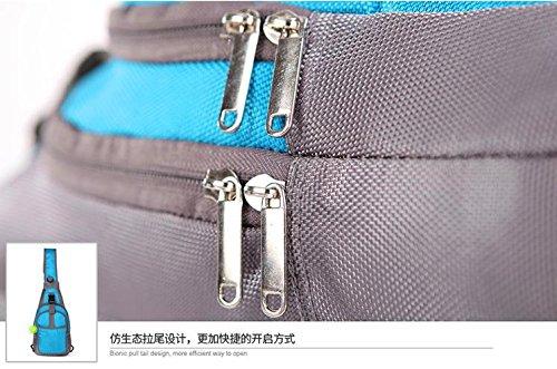 Zaino Sling Bag, impermeabile Zaino Crossbody Daypack per escursioni a piedi o sport. (Nero) Rosa