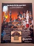 70er Jahre : BECK'S BIER MOTIV SCHACH - alte Werbung /Originalwerbung/ Printwerbung /Anzeige /Anzeigenwerbung GROSSFORMAT 21 x 27 cm