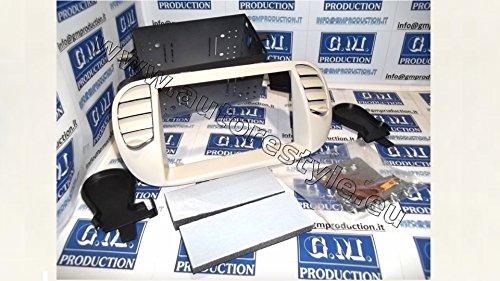 G.M. Production - 4276.1 Mascherina PANNA avorio per autoradio Doppio 2 Din FIAT con recupero bocchette ARIA - No Aria Condizionata