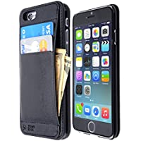 """iPhone 6+ Wallet Case, Money & Credit Card Holder, for iPhone 6 Plus (5.5""""), with FREE Screen Protector & Polishing Cloth, Premium Quality (Black)"""
