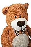 Plüschtier großer Bär mit Fliege ca. 80 cm in Braun Kuscheltier Stofftier Teddy