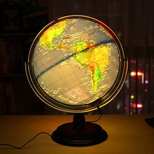 Starsou Globus Beleuchtet Globen WeltKugel für Kinder Halloween, Business & Geburtstag Geschenke, Wohnkultur Büro Dekoration - Blau - 12 ()