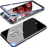 Elewelt Magnetische Hülle für Samsung Galaxy S9 Plus, Magnetic Adsorption Handyhülle mit Eingebauter-Magnet Funktion,