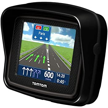TomTom Urban Rider Europe Motorrad-Navigationssystem (8,9 cm (3,5 Zoll)  Display, IQ Routes, Fahrspurassistent) mattschwarz