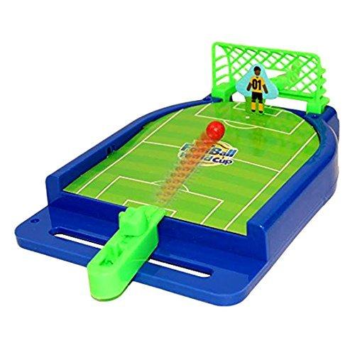 Toy Cubby Mini - Fußball Tisch Arcade - Spiel Miniatur - Desktop Fußball Neuheit Spiel Power Shot Fußball Fähigkeiten Brettspiel für Kinder ab 5 und bis Spielzimmer Geburtstagsparty BBQ