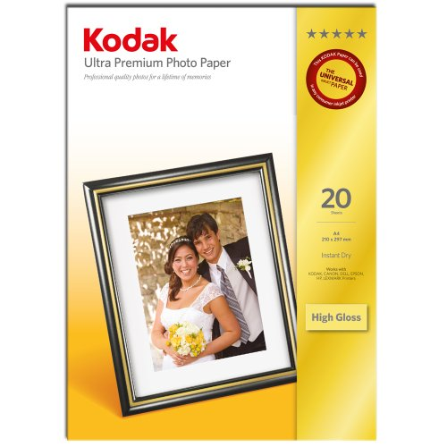 Kodak 3936788 ultra premium photopaper high gloss 20 a4 21 x 29,7 cm (a4) carta fotografica