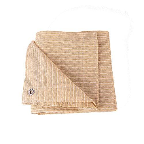 Vele parasole duo tessuto per tende da sole in tessuto beige al 90% con occhielli per copertura per pergola (dimensioni : 2×4m)