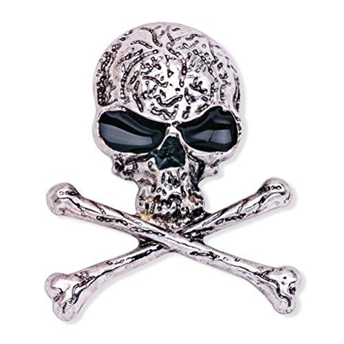 LUOEM Broche de Huesos de Cráneo Broche de Esqueleto Punky...