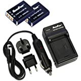 MaximalPower FC500 FUJI NP95 Travel Charger and Replacement Battery for Fuji NP95