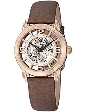 Stuhrling Original Damen-Armbanduhr Analog Automatik Leder - 165B2.334P14