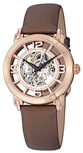 stuhrling-original-156124t14-orologio-da-polso-automatico-donna-cinturino-in-pelle-marrone